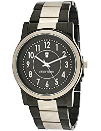 Swiss Trend Black Dial Stronghold Stainless Steel Analogue Men's Watch