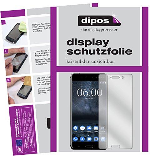 dipos I 2X Schutzfolie klar passend für Nokia 6 Folie Bildschirmschutzfolie
