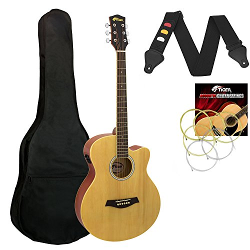 Tiger ACG4-NT Elektro-Akustische Gitarre-Set - Natürlich