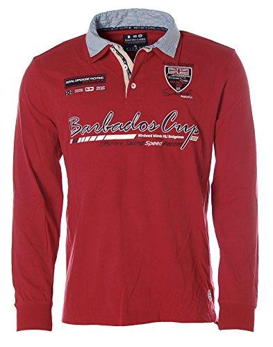 Kitaro Herren Langarm Shirt Poloshirt Hemdkragen -Barbados Cup - True Red 468aaebb5f