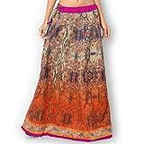 Admyrin Women Orange and Blue Banglori S...