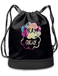 RAINNY Okay Large Drawstring Sport Backpack Sack Bag Sackpack