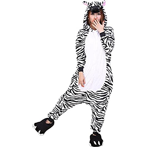 Costumes Zebra Pour Adultes - ABYED Adulte Unisexe Anime Animal Costume Cosplay