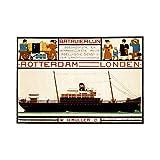 TRAVEL BATAVIA LINE MULLER ROTTERDAM LONDON SHIP
