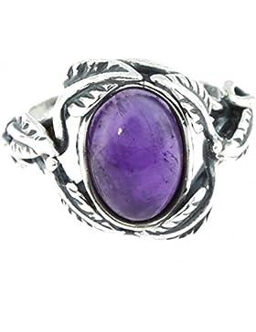 Ring mit Amethyst 42-16 - Schmuck Silbern aus Amethyst - Alle Größen und verschiedene Steine - ARTIPOL