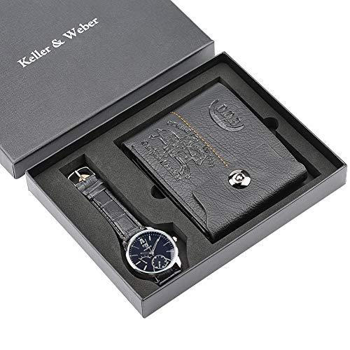 Set mit Reißverschluss für Herren, Top-Marke, luxuriöse Quarz-Armbanduhr für Jungen, Freund, lässige Sportbörse für Vater und Ehemann – dgsdrhs