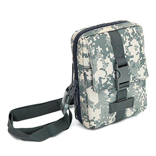 F@Esercito ventilatore nylon impermeabile borsa a tracolla borsa all'aperto borsa borse tattiche Messenger borse uomo custodia tool Digital Camo , F D