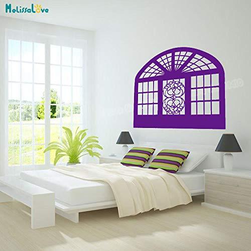 zhuziji Einfache Vinyl Wandaufkleber Blume Floral Fensteraufkleber Dekoration Für Wohnzimmer 3D Selbstklebende Kunst Wandbilder GIF 88A-2 78x68 cm