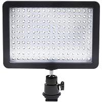 Bestlight Ultra Alta Potencia Panel de luz de vídeo con 160 LED, con adaptador de zapata y Adaptador de Batería Li-ion de Panasonic para Canon, Nikon, Olympus, Pentax DSLR y videocámaras