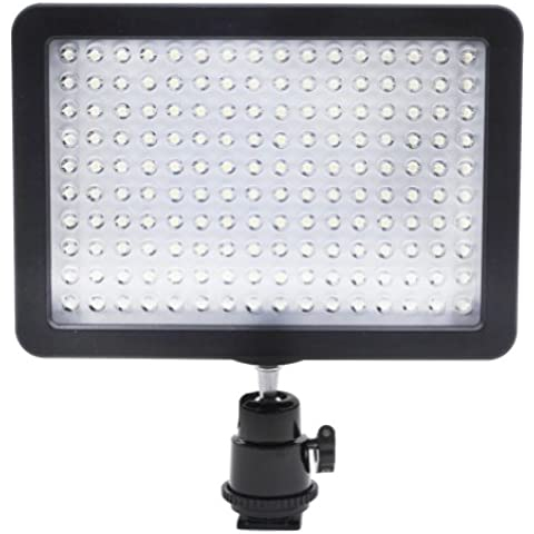 Neewer 10072746 - Panel con 160 LED (9.6 W, 7.5 V, 3200-5600K), color negro