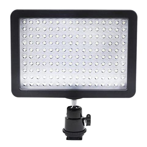 Bestlight Ultra High Power 160 LED Video Light Panel with Shoe Adapter for Canon, Nikon, Olympus, Pentax DSLR and Camcorders