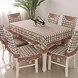 vbimlxft - Mediterrane Tuch rechteckigen quadratischen Gitter Tischdecke staubdicht Tischabdeckung für Küche Dinning Tabletop Dekoration Tischdecke (Farbe : A, größe : 110x110cm)