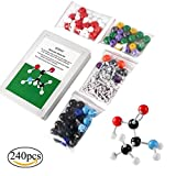 Kit per modellini molecolari, ICOCO, chimica generale e organica, con scatola robusta per la conservazione (XMM-066-240)
