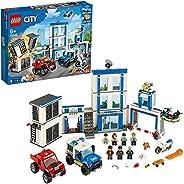 LEGO 60246 City Police Polisstation, Polisleksak med Leksaksbilar och Motorcykel för Barn 6+ år