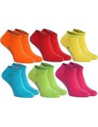 6, 9 o 12 pares de calcetines cortos en 12 colores de moda producidos en la UE, la alta calidad de algodón certificado Oeko-Tex, tallas: 36, 37, 38, 39, 40, 41, 42, 43, 44, 45 46 by Rainbow Socks