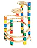 Quadrilla QUA-E6008 Wooden Marble Run Builder-Cyclone-High Quality Wooden Safe Play-Smart play for Smart Family-Quality Time Playing Together