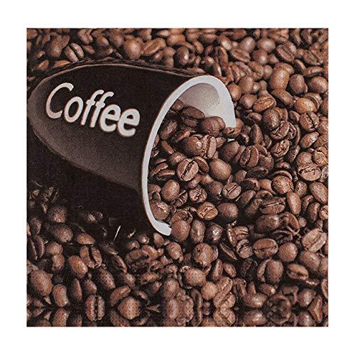 20 Stk. Motivservietten 3-lagig, 33 x 33 cm, Kaffeebohnen/Aktion - solange der Vorrat reicht!