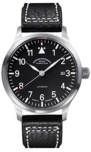 Muhle Glashutte Men's Terra Sport II 44mm Black Automatic Watch M1-37-44-LB