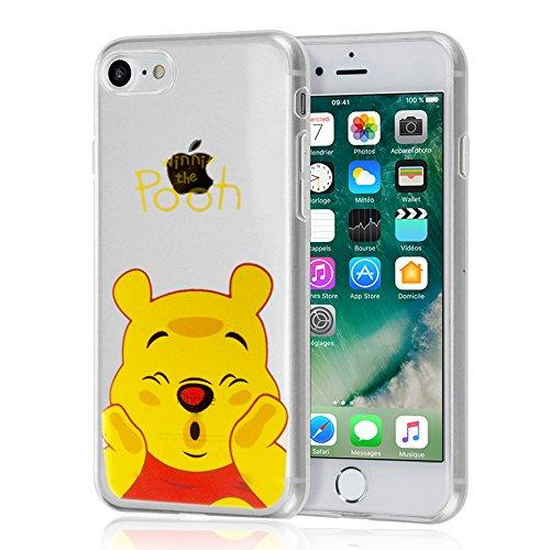 """VComp-Shop® Transparente Silikon TPU Handy Schutzhülle mit Motiv Cartoon Disney für Apple iPhone 7 4.7"""" + GRATIS Displayschutzfolie - Winnie the Pooh Winnie the Pooh"""