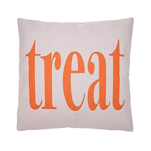 Hermosapoty Kissenbezug mit englischem Buchstaben, Halloween, Kürbis 9 (Buchstaben 9 Halloween)