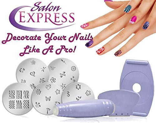 EVANA Salon Express Nail Polish Art Decoration Stamping Design Kit Decals Paint Stamp