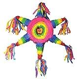 Zauberparty Piñata Regenbogen Rad Kindergeburtstag Party Dekoration Pinata Füllung, 65cm, Mehrfarbig