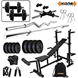 Kore 50Kg PVC Combo 35 Home Gym With 8 In 1 Multipurpose Bench