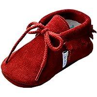 Jinwood designed by amsomo - verschiedene Farben - Mokassin - Veloursleder - Lederpuschen mit Lammwolleinlage - Schnürschuhe - Krabbelschuhe - Mädchen - Jungen - soft sole / mini shoes div. Groeßen