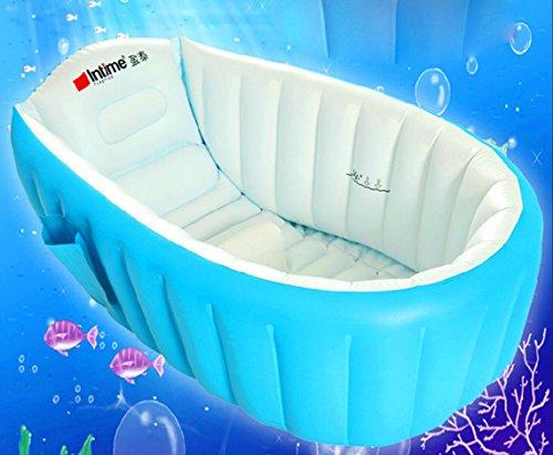 Frame Pools Baby-Badewanne/aufblasbares Pool/aufblasbare Wanne/Kind Falten aufblasbare Wanne/aufblasbare Verdickung Badewanne/Blau/Rosa, blue