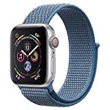 ANBEY für Apple Watch Armband 38mm 40mm 42mm 44mm, Geeignet für iWatch Apple Watch Serie 4, Serie 3, Serie 2, Serie 1, Nylon Sportschlaufenband Ersatzarmband Bright Blue 42/44mm