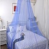 Z&HAO Elegante Klassische Prinzessin Studenten Outdoor Hang Dome Moskitonetze Für Mädchen Rundspitze Insekten Betthimmel Netting Vorhänge,Blue,250*900*60Cm
