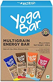 Yogabar Multigrain-Energy Snack Bars Pack - Healthy Diet with Fruits, Nuts, Oats and Millets, Gluten Free and