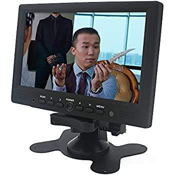 Sourcingbay® TFT Color LCD 7 inch Car/PC Monitor Support Rotating The Screen With HDMI/VGA/AV Input