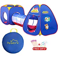 Peradix Play Tent Tunnel for Kids Active - 6 Months to 6 Years Old Baby Pop Up Tent with Tunnel (No Balls) - Ideal for Home & Garden - 90 x 80 x 80 cm