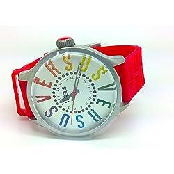 Versus-sgu05-City-Zeigt Herren-Armbanduhr 1076312Analog Gummi rot