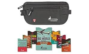 Alpha Keeper Cinturón de Dinero para el Viaje con RFID Bloqueo Conjunto de Mangas para el Uso Diario