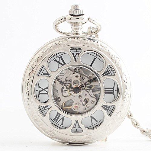 Y & M Double Open Design/Mechanische durch das Ende/Retro Taschenuhr in Frauen-Geschenk Uhren -