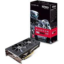 Sapphire 11260-07-20G AMD RX 480 Nitro+ 8 GB GDDR5Speicher, PCI-E Grafikkarte, schwarz