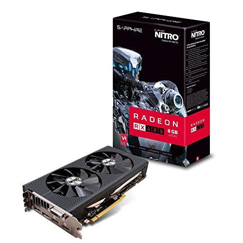 Price comparison product image Sapphire AMD RX480 Nitro+ 8 GB GDDR5 Memory Polaris FinFET DX 12 Vulkan FreeSync PCI-Express Graphics Card