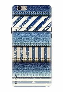 Noise Designer Printed Case / Cover for Oppo F1s / Patterns & Ethnic / Like Denim Stripe Design