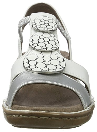 Jenny Damen Korsika-Iii Offene Sandalen Weiß (argento,weiss)