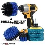 Brosse de perçage - Patins à récurer et brosses pour salle de bain, cuisine et usage général, kit de tampons de même couleur...