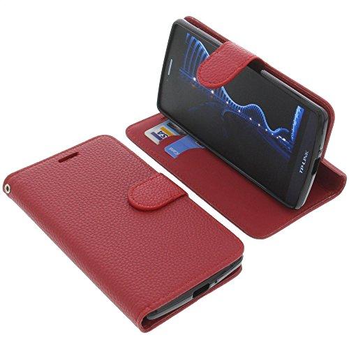 foto-kontor Tasche für TP-Link Neffos C5 Book Style rot Schutz Hülle Buch
