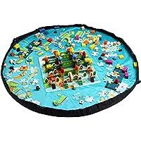 Giocattolo sacchetto di immagazzinaggio, Homecube bambino Kids Play Tappetino Lego giocattoli Deposito Bag giocattolo organizzatore (Reversibile Mat)