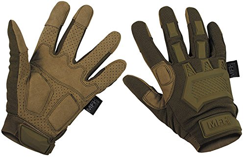 MFHHighDefence Tactical Handschuhe, Action Coyote Tan - L