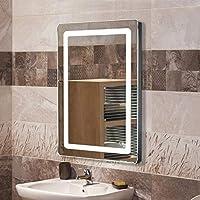 Miroir de Salle de Bain, Miroir Lumineux LED avec Bouton Tactile, pour la Maison, Salle de Bain, Hôtel, Salon de Beauté…