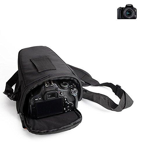 Galleria fotografica Per Canon EOS 200D Custodia anti-shock per macchine fotografiche Impermeabile sacchetto per fotocamere SLR DSLR reflex riflettori con copertura a pioggia supplementare Scatola di viaggio per Canon EOS 200D shockproof a manica piena, nero - K-S-Trade(R)