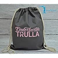 Sportbeutel Kindergarten Trulla Turnbeutel mit Spruch/Gymbag / Jutebeutel/Rucksack