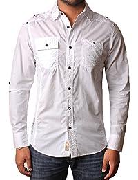 Dissident 100% coton manches de chemise décontractée des hommes de chemise retroussées Clellan