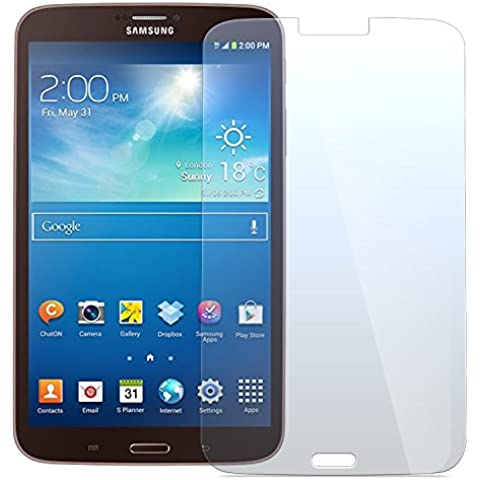 Cristal Templado Protector de Pantalla Para Samsung Galaxy Tab 3 - NEVEQ® Vidrio Templado, el Samsung Galaxy Tab 3 (T311/T315) (8) Pulgadas de Pantalla con Garantía de por Vida, piel Protectora de la Cubierta de 9H de Dureza.